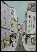 Charles Lever 1920-2004 Rue Of Montmartre Paris Corsican Hollywood Rothschild