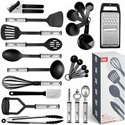 Set Of 24 Kitchen Utensil Nylon And Stainless Steel High Quality Indoor Home