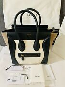 Celine Micro Tricolor Leather Luggage Bag Authentic Tags And Receipt Included