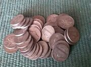 Roll Of 40 Circulated 1942-1945 Jefferson 35 Silver War Nickels