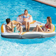 Vista 3 Person Floating Island Inflatable Swimming Pool Float Raft