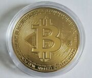Bitcoin Bit Coin Metal Gold Token Medal 3cm Wide Crypto Cryptocurrencies