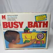 Vtg 1975 Kohner Busy Bath With Box Toddler Toy For Tub