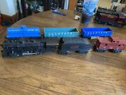 Marx 1666 Allstate Steam Engine, Tender And Four Allstate Cars