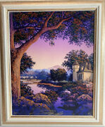 Jim Buckels Castle On The River Painting On Canvas Signed Dated Numbered Framed