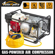 4utohydria Air Compressor Gasoline Driven With Hose And Regulator Hookah Diving