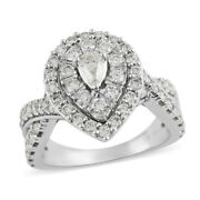 14k Gold Diamond Engagement Ring Jewelry Size 7 Ct 1.5 H Color I3 Clarity