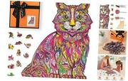 Wooden Jigsaw Puzzles For Adults And Kids Unique Animal Shaped Cute Cat