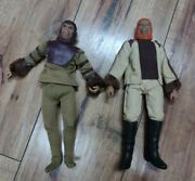 Vintage Planet Of The Apes Collectibles 2 Action Figures 1970and039s Dr Zaius