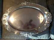 Reed And Barton Francis I Large Sterling Silver Oval Tray, Platter 570a, 21 1/2