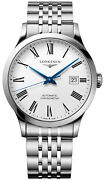 Mens Swiss Automatic Chronometer Watch Longines Record L28214116 100 Authentic