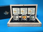 2014 20 Fine Silver Coins Majestic Maple Leaves 3 Coin Set