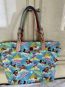 Disney Dooney And Bourke Fab 5 Beach Tote - Nwt - Retired Aulani Exclusive