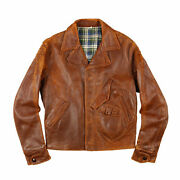 Leather Sport Jacket Double Riders D Stitch Pocket Menand039s Outwear 30s Vintage