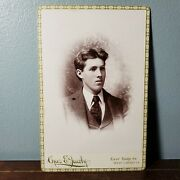 1890s Cabinet Card Portrait Photo Of Handsome Man From West Liberty Iowa Jacoby
