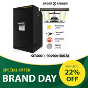 Spider Farmer Se3000 Led Grow Light +3and039x3and039x6and039 Indoor Grow Tent Hydroponic Plants