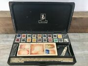 George Rowney's Antique Metal Paint Water Colour Box - Extremely Rare