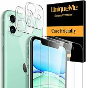 2+2 For Iphone 11 Tempered Glass Screen And Camera Lens 9h Hardness - Clear