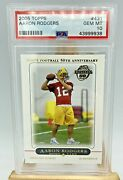 2005 Aaron Rodgers Rookie Card Topps Psa 10 Nfl Green Bay Packers Hard_8s_magic