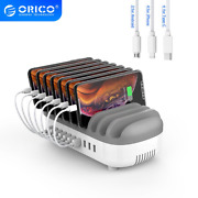 Orico 10 Ports Usb Charging Station Dock 120w 5v 2.4a Usb Charger For Iphone Sam