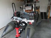 Inflatable Pontoon Boat, Motor, Trailer With Lots Of Extras