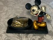 Vintage Disney Mickey Mouse Paper Clip Holder Red Black Gold Office Supplies