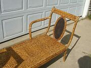 Egyptian King Tut Design Sofa Chair Straw And Wood 1920and039s Egypt Furniture Chairs