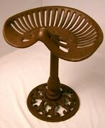Cast Iron Tractor Stool Walter A. Wood Antique Replica For Porch, Patio, Display
