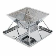 Stainless Steel Portable Charcoal Bbq Grill Foldable Outdoor Barbecue Stove