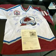 2000-2001 Colorado Avalanche Stanley Cups Champs Team Signed Jersey With Jsa Coa