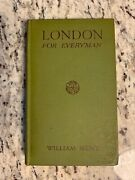 1931 Antique Travel Book London For Everyman With Maps