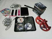 Nintendo Wii Console Bundle With Games Accessories + Free Case And Movies