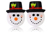 2packs Christmas Light Coversnowman Lamp Cover For Christmas Outdoor Decoration