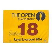 Rory Mcilroy Signed 2014 Royal Liverpool Open Championship Pin Flag