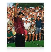 Tiger Woods Signed Photo 2001 Masters Champion Autograph