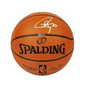 Stephen Curry Signed Spalding Nba Basketball Autograph