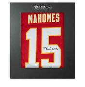 Patrick Mahomes Back Signed Kansas City Chiefs Home Jersey In Deluxe Packaging