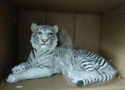Dwk World Of Wonders Ghost White Tiger Large Statue Figure New Resin Approx 15