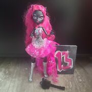 Monster High Catty Noir 13 Wishes Doll Complete Outfit No Mic Includes Booklet