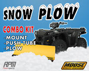 Moose 55 Steel Snow Plow Kit Yamaha Grizzly 350 14 Straight Axle