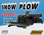 Moose 50 Black Steel Snow Plow Kit Yamaha Grizzly 350 14 Straight Axle