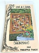 Out On A Limb Jelly Roll Quilt Pattern - 164 Pineapple Punch - Sew And Flip Block