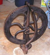 J. Stark Cast Iron Foot Powered Wheel For Watchmakers Lathe