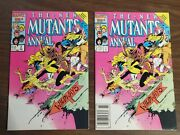 New Mutants Annual 2 / Two Copies / Newsstand And Direct / 1st App Psylocke