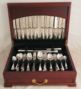 Rattail Design Harrison Fisher And Co Silver Service 127 Piece Canteen Of Cutlery