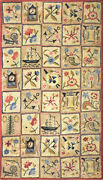 Antique American Hooked Rug 6and03910 X 3and03910