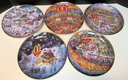 Mcdonald's Limited Edition Porcelain Collector's Plates By Bill Bell Set Of 5