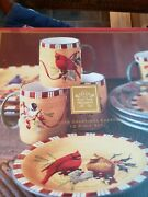 Lenox Holiday Winter Greetings 12 Pc Set New In Box W/cardinal On Dinner Plates