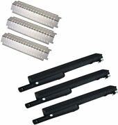 Stainless Steel Heat Plate And Cast-iron Grill Pipe Burner For Charbroil