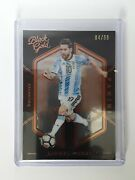 2016-17 Panini Noir Black Gold Lionel Messi Card 147 And039ed /99 Argentina